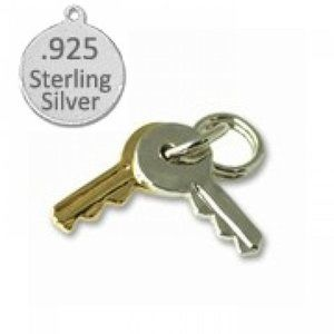 Sterling Silver Key charm is 925 Sterling Silver a